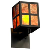 Justice Design WIN-8740-MBLK-MICA Windows Plus Window 1 Light 5 inch Matte Black Wall Sconce Wall Light