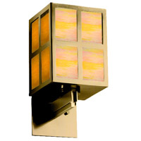 Justice Design WIN-8742-ABRS-GAMB Windows Plus Window 1 Light 6 inch Antique Brass Wall Sconce Wall Light