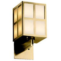 Justice Design WIN-8742-ABRS-GWFR Windows Plus Window 1 Light 6 inch Antique Brass Wall Sconce Wall Light
