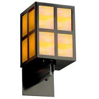 Justice Design WIN-8742-MBLK-GAMB Windows Plus Window 1 Light 6 inch Matte Black Wall Sconce Wall Light
