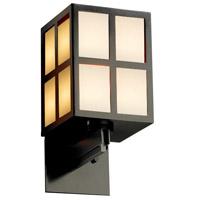 Justice Design WIN-8742-MBLK-GWFR Windows Plus Window 1 Light 6 inch Matte Black Wall Sconce Wall Light