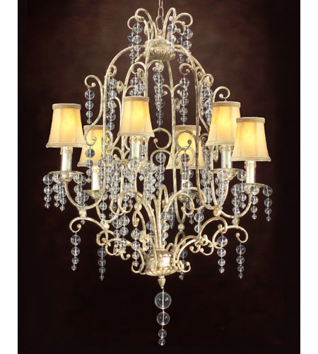 John Richard Excelsior 6 Light Chandelier in Hand-Painted AJC-8337 photo