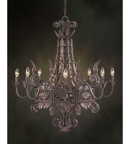 John Richard Provenza 8 Light Chandelier in Hand-Painted AJC-8363 photo