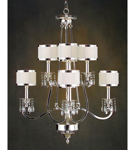 John Richard AJC-8470 Lombard 8 Light 36 inch Plated Chandelier Ceiling Light photo