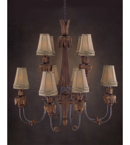 John Richard AJC-8504 Grand Dame 12 Light 44 inch Hand-Painted Chandelier Ceiling Light photo