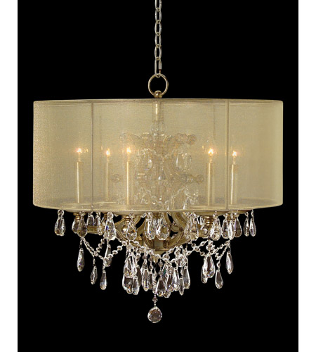 John Richard AJC-8644 Hotel Warick 6 Light 27 inch Hand-Painted Pendant Ceiling Light photo