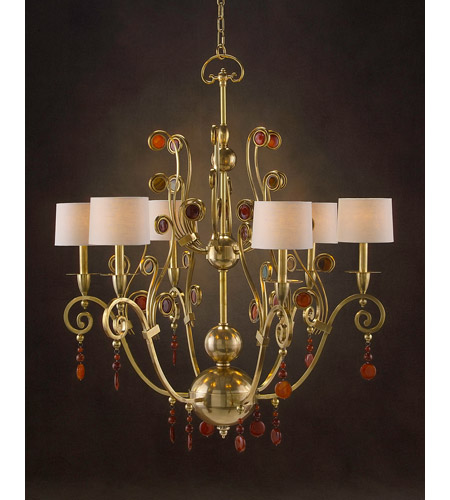 Diorre 6 Light 40 Inch Plated Chandelier Ceiling Light