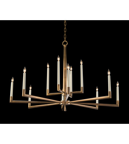 finest selection c3ffc e03dc Modern 12 Light 48 inch Antique Brass Chandelier Ceiling Light
