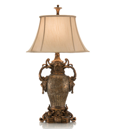 John Richard Portable 1 Light Table Lamp in Antique Gold and Silver AJL-0130 photo