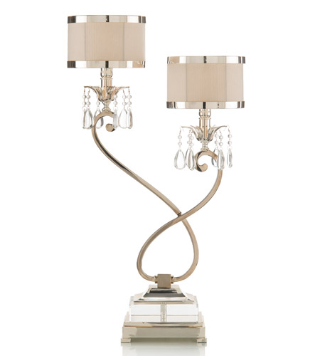 John Richard AJL-0319 Alexander John 30 inch 60 watt Silver Buffet Lamp Portable Light photo
