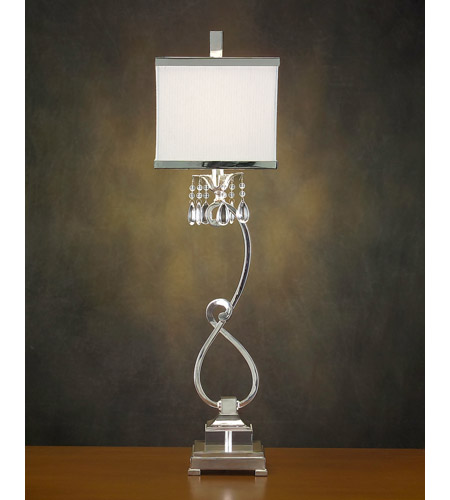 John Richard Alexander John 1 Light Buffet Lamp in Silver AJL-0320 photo