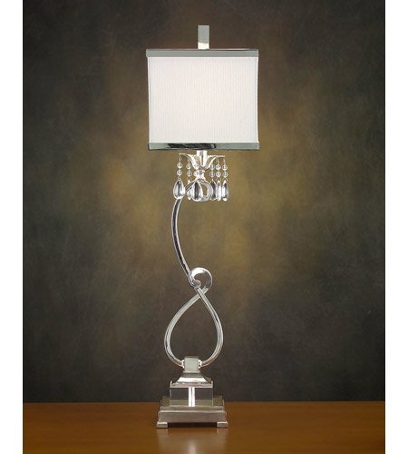 John Richard Alexander John 1 Light Buffet Lamp in Silver AJL-0321 photo