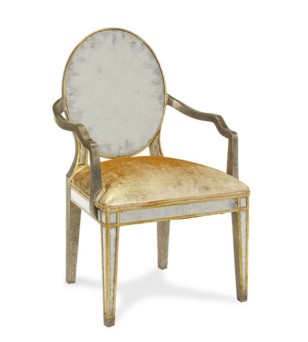 John Richard Upholstered Furniture Chair in Gilded Pewter