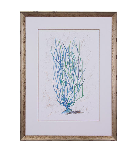 John Richard GBG-0305B Blue Coral Blues and Golds Wall Art