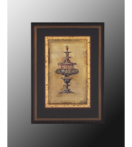 John Richard Architectural Wall Decor Open Edition Art in Gold Leaf GRF-3571A photo