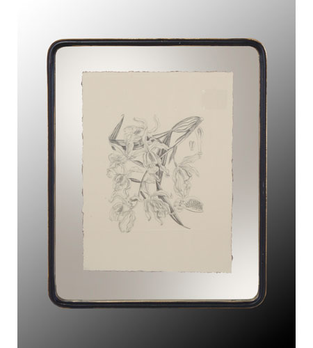 John Richard Botanical/Floral Wall Decor Open Edition Art in Black and Cream GRF-4400B photo