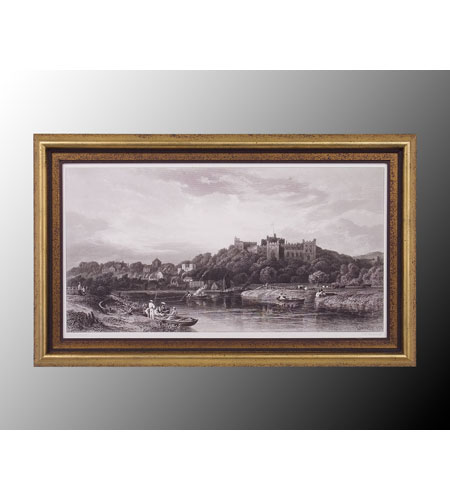 John Richard Coastal Wall Art - Print in Black and Gold  GRF-4823A photo