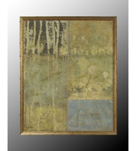 John Richard Abstract Wall Decor Open Edition Art in Aged Silver GRF-5046 photo