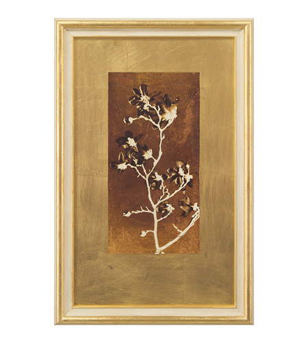 John Richard GRF-5341B Signature White and Gold Wall Art