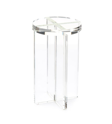 John richard jra 10450 martini 21 x 12 inch clear side table for 12 inch end table