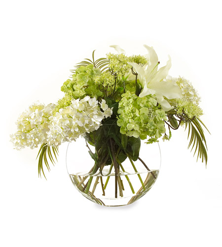 John Richard Fresh Water Look Botanical in Whites JRB-2283W photo