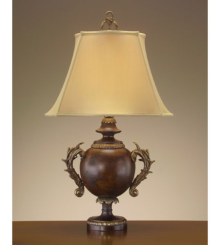 John Richard Portable 1 Light Table Lamp in Antique Gold JRL-7703 photo