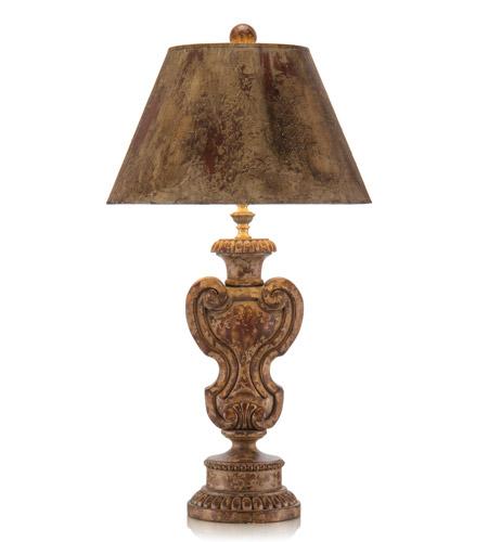 John Richard Portable 1 Light Table Lamp in Hand-Painted JRL-7921 photo