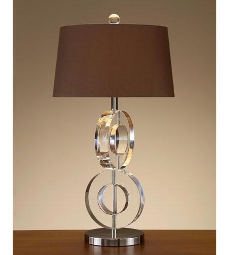 John Richard Crystal 1 Light Table Lamp in Sepia Brown JRL-7932 photo