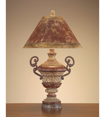 John Richard Portable 1 Light Table Lamp in Gold Leaf JRL-7997 photo