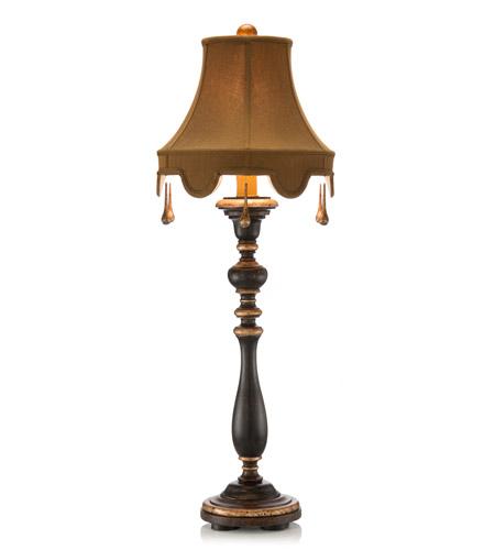 John Richard JRL 8015 Signature 46 Inch 150 Watt Black And Metallic Gold  Table Lamp Portable Light