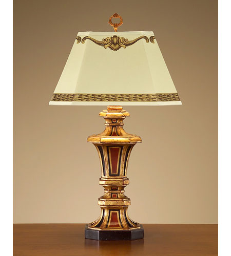 John Richard Portable 1 Light Table Lamp In Hand Painted