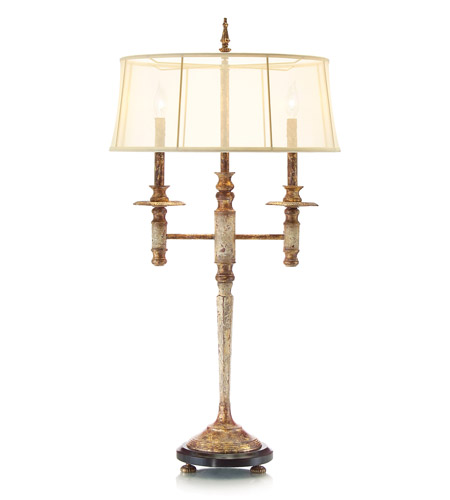 John Richard JRL-8351 Signature 39 inch 60 watt French Beige and White Table Lamp Portable Light photo