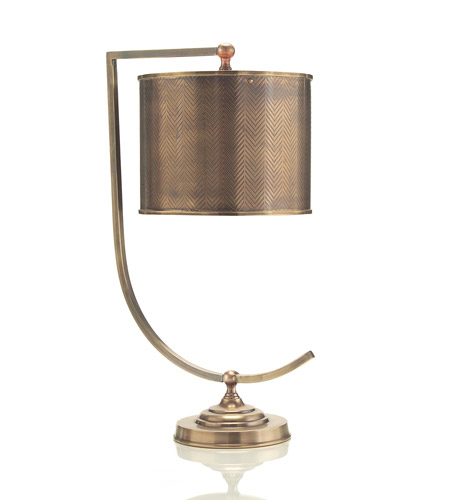 John Richard JRL-8516 Portable 23 inch 25 watt Brass Table Lamp Portable Light photo