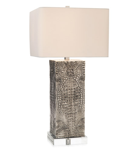 John richard jrl 9051 embossed 33 inch 150 watt antique silver and john richard jrl 9051 embossed 33 inch 150 watt antique silver and clear acrylic table lamp portable light aloadofball Image collections