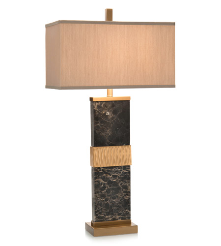Steel Black Marble Table Lamps