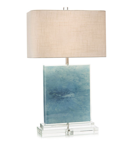 John Richard Jrl 9207 Ocean 31 Inch 150 Watt Blue And Clear Acrylic Table Lamp Portable Light