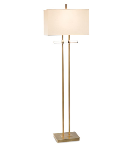 John Richard JRL-9241 Signature 68 inch 150 watt Brass and Glass Floor Lamp Portable Light photo thumbnail