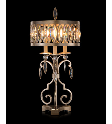 Antique Silver and Clear Table Lamps