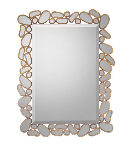 John Richard Rectangular Mirror in Gilded Gold JRM-0618 photo