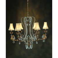 John Richard Highland Park 6 Light Chandelier in Hand-Painted AJC-8005