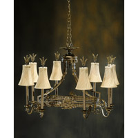 Rochelle 8 Light 38 inch Hand-Painted Chandelier Ceiling Light
