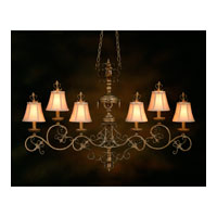 John Richard Chantal Manor 6 Light Chandelier in Hand-Painted AJC-8042