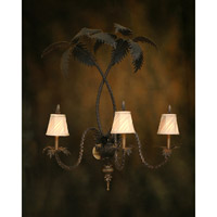 Rue Royale 3 Light 36 inch Hand-Painted Wall Sconce Wall Light