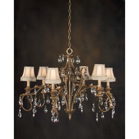John Richard Alexis 6 Light Chandelier in Hand-Painted AJC-8083