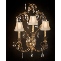John Richard Alexis 3 Light Wall Sconce in Hand-Painted AJC-8084