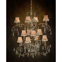 John Richard Alexis 12 Light Chandelier in Hand-Painted AJC-8265