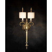 Isabella 2 Light 12 inch Plated Wall Sconce Wall Light