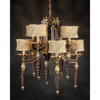 John Richard Hamptons 8 Light Chandelier in Hand-Painted AJC-8321