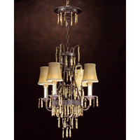 John Richard Ceylon 4 Light Chandelier in Hand-Painted AJC-8336