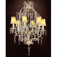 John Richard Excelsior 6 Light Chandelier in Hand-Painted AJC-8337 photo thumbnail